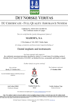 Madespa renueva su certificado CE