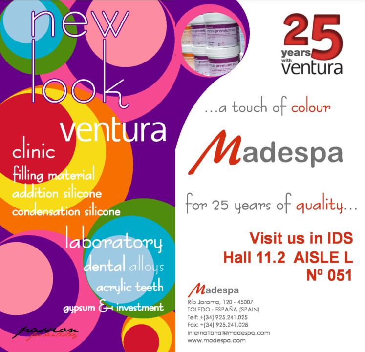 Madespa presenta la nueva imagen de Ventura en la feria de IDS