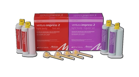Ventura impress 2 light body. Siliconas polimerizables por adición