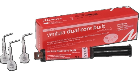 Composite dental Ventura dual core built. Dual core bult up dental composite