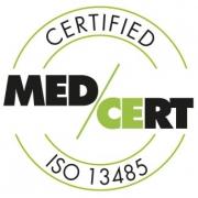 Certified MED/CERT ISO 13485